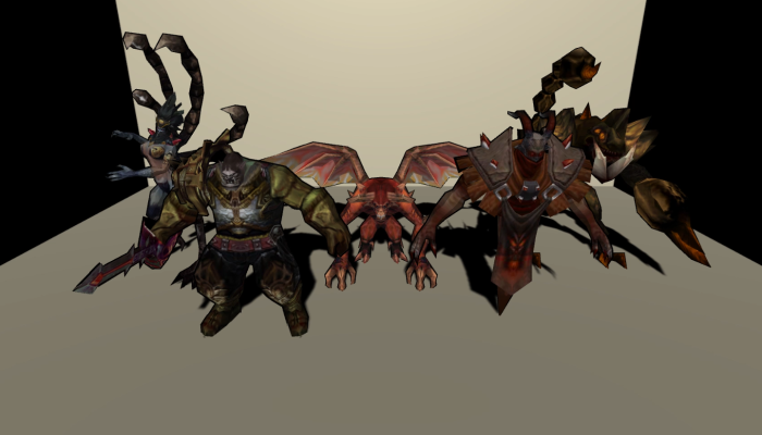 Monster Creature Pack 09 – Enemies – Textured Low Poly