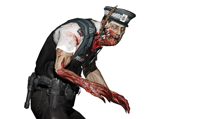 2d zombie cop sprite