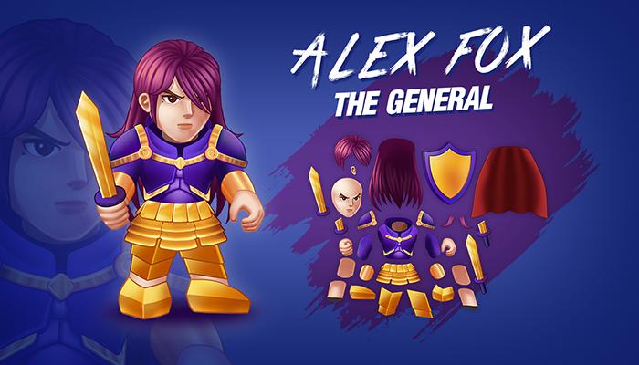 2D Hand Paint : Alex Fox the General