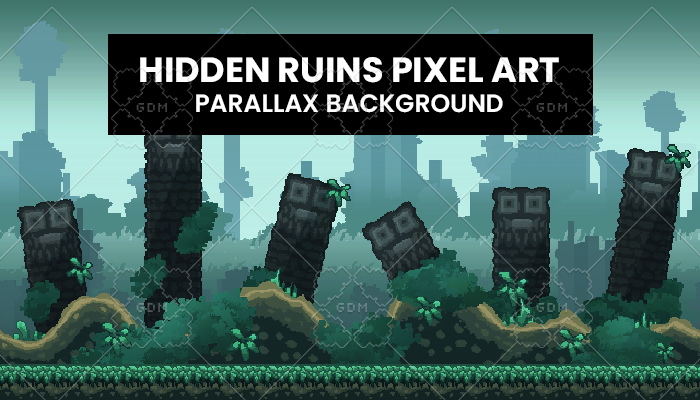 Hidden Ruins PixelArt Background