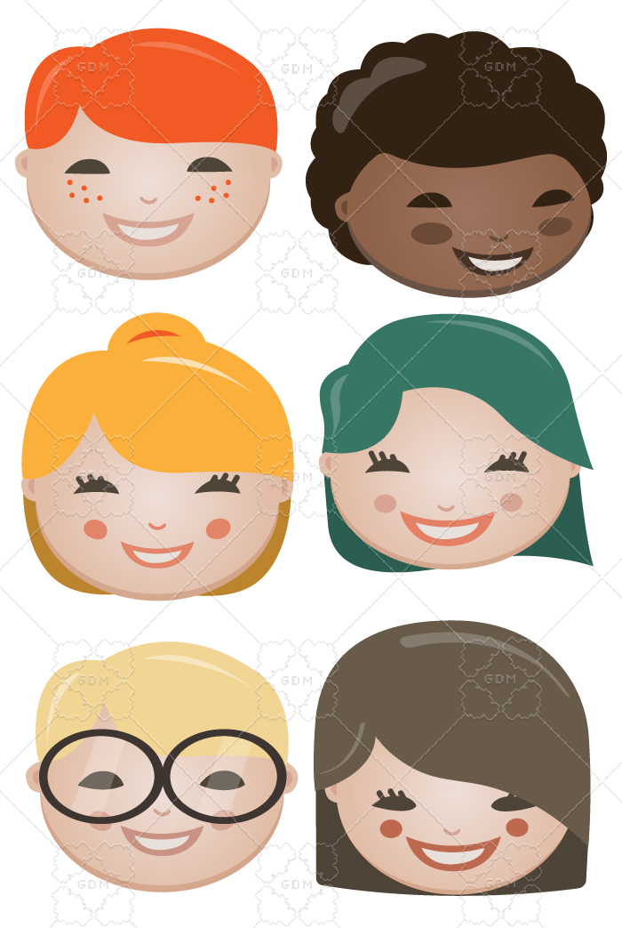 Children's faces