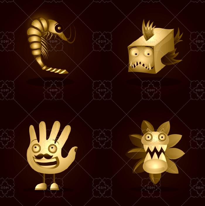 Mysterious characters