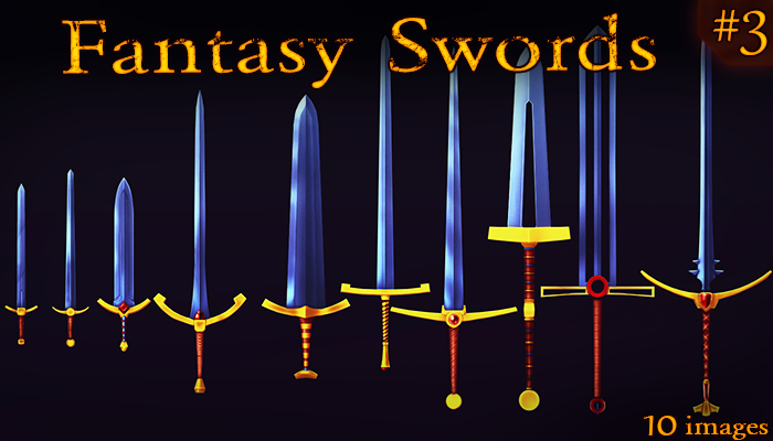 Fantasy Weapon:Royal Swords set