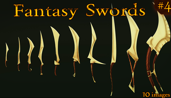 Fantasy Weapon: Elven Swords set