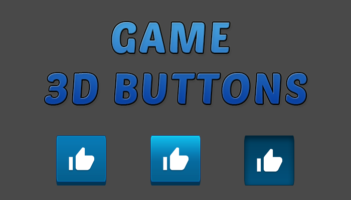Game 3D Buttons Pack