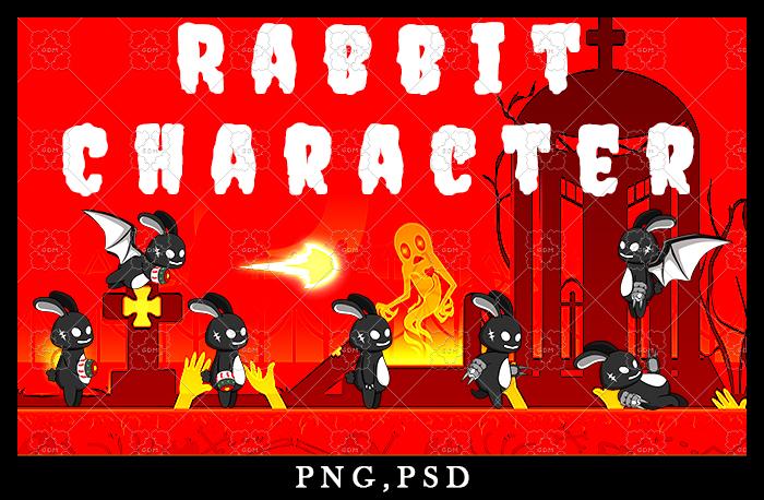 Game Asset Rabbit Shadow Character Sprite Sheet