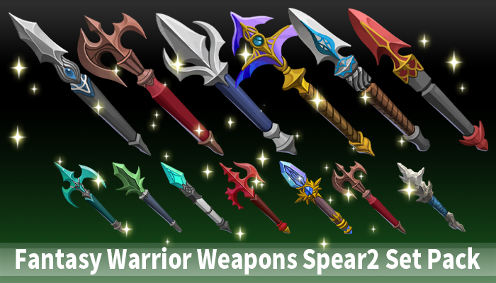 Fantasy Warrior Weapons Spear2 Set Pack