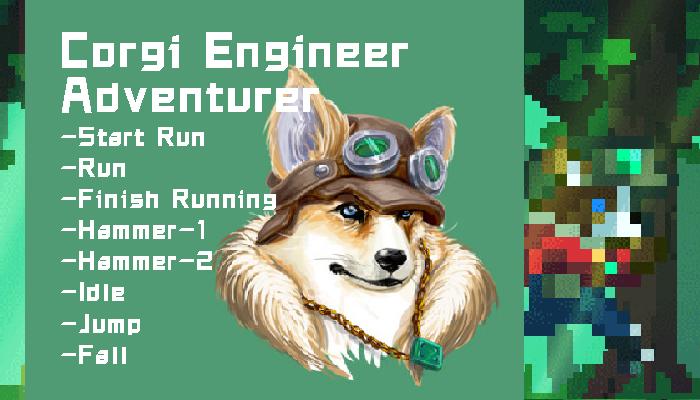Corgi Engineer Adventurer – Pixel
