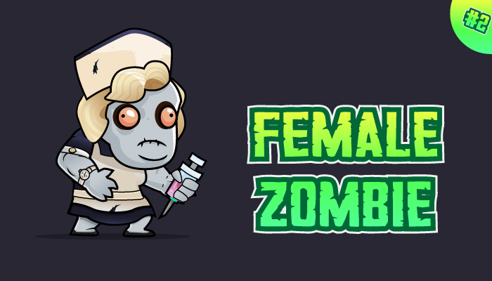 Female Zombie Character Sprites 02