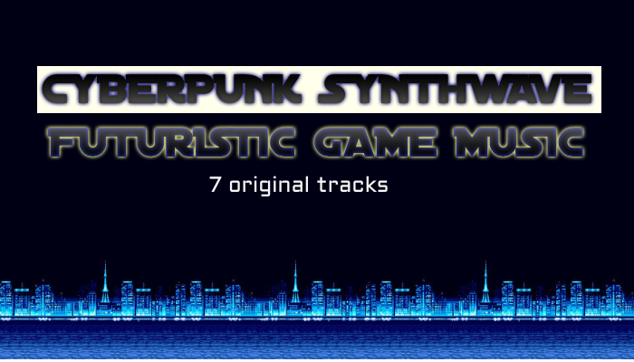 Cyberpunk Synthwave Futuristic Game Music Pack