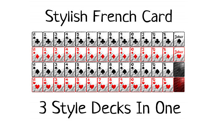 Mini French-Suited Playing Cards (150+ Cards!)
