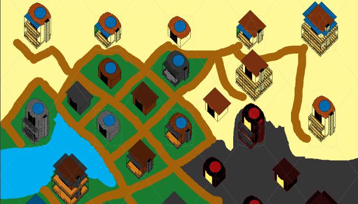 2D Isometric Huts