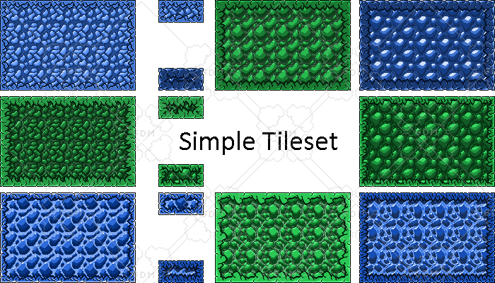 Simple platformer tileset and platforms with shattering
