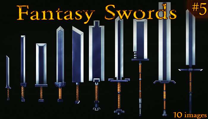 Fantasy Weapon: gnomish swords set