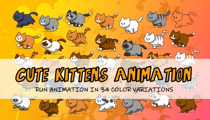Cute Kitten Animation RUN