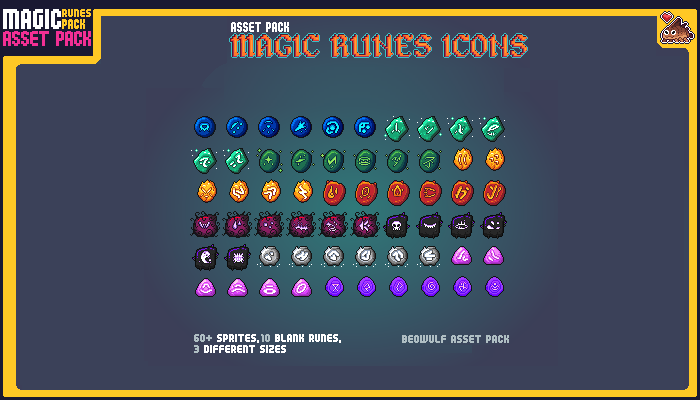 Magic Runes Pixel Art Asset Pack