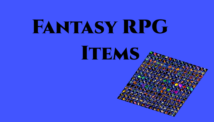 Fantasy RPG Inventory Items Package