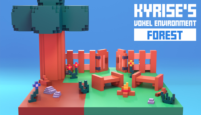 Kyrise's Voxel Forest Environment Pack Low Poly