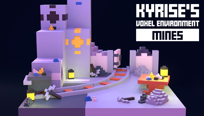 Kyrise's Voxel Mines Environment Pack Low Poly