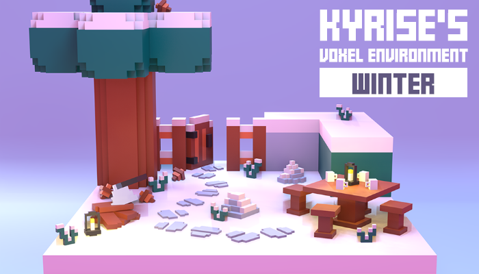 Kyrise's Voxel Winter Environment Pack Low Poly