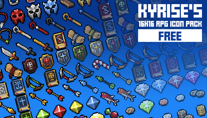 Kyrise's Free 16×16 RPG Icon Pack