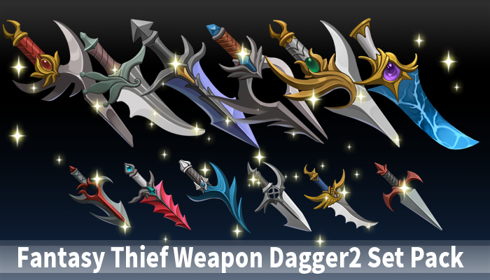 Fantasy Thief Weapon Dagger2 Set Pack