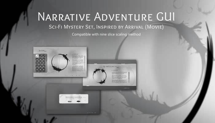 Adventure Narrative Sci-Fi Mystery GUI Pack