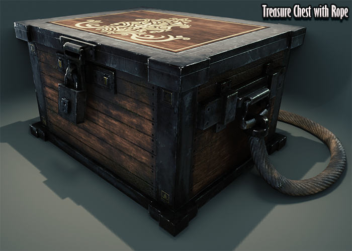 Treasure Chest with Rope