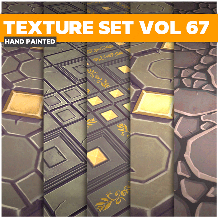 Stylized Tiles Vol 67 – Hand Painted Textures