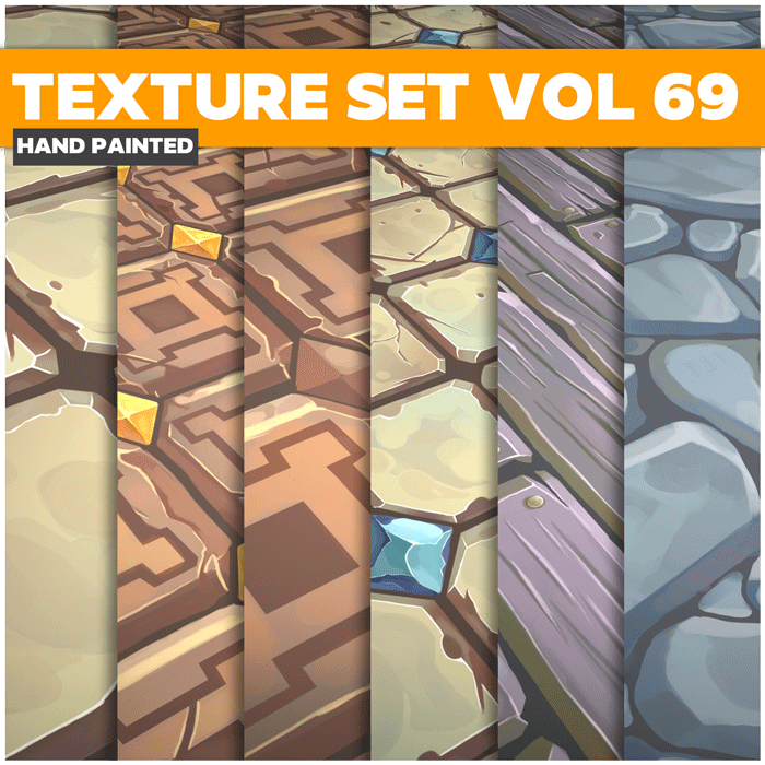 Stylized Tiles Vol 69 – Hand Painted Textures