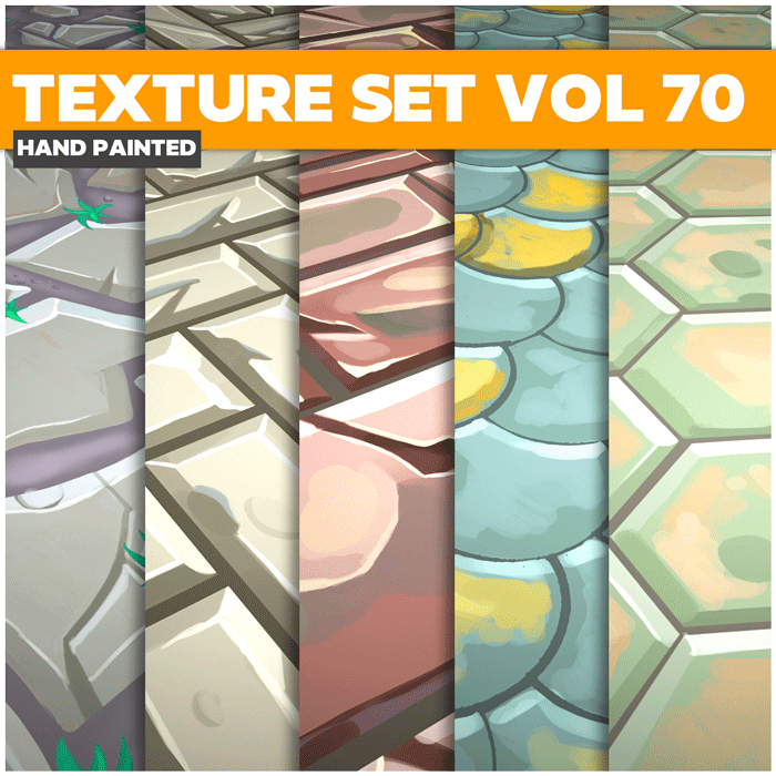Stylized Mix Vol 70 – Hand Painted Textures