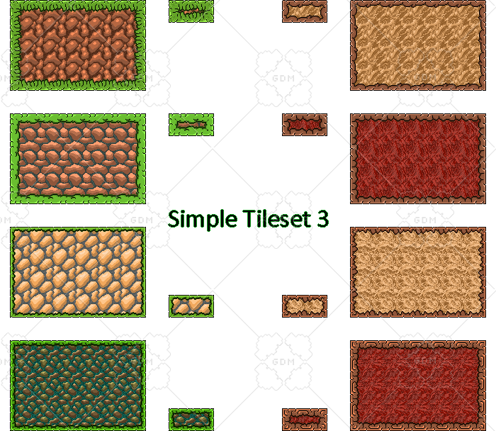 Simple platformer tileset and platforms with shattering 3