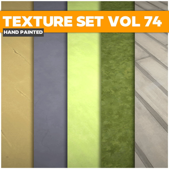 Stylized Ground Vol 74 – Hand Painted Textures
