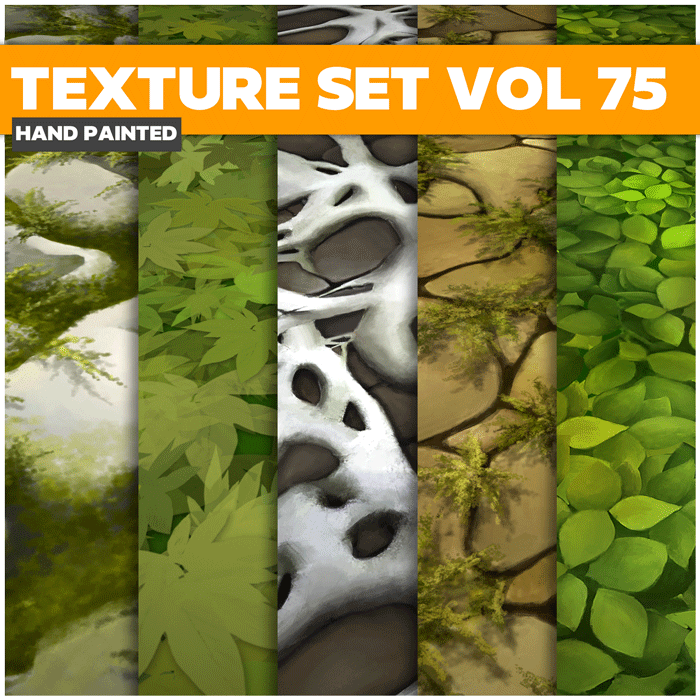 Stylized Grass Vol 75 – Hand Painted Textures