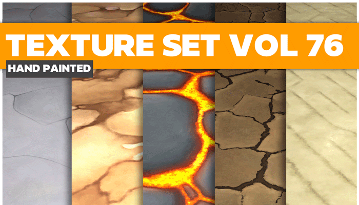 Stylized Stone Lava Vol 76 – Hand Painted Textures