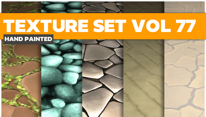 Stylized Nature Stone Vol 77 – Hand Painted Textures