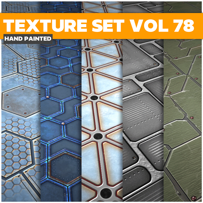 Stylized Sci-fi Vol 78 – Hand Painted Textures
