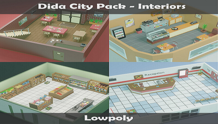LowPoly City Pack – Interiors