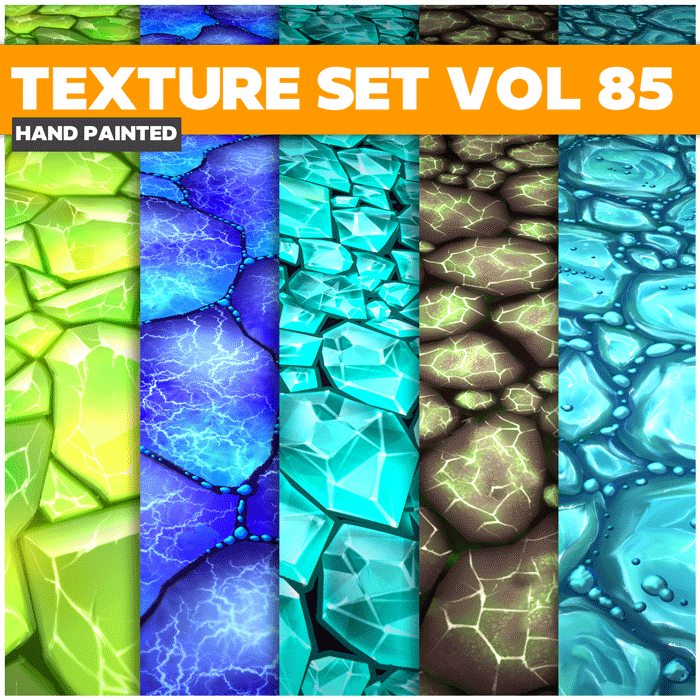 Stylized Crystals Vol 85 – Hand Painted Textures