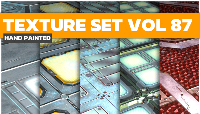 Stylized Sci-fi Metal Vol 87 – Hand Painted Textures