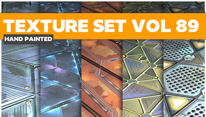 Stylized Sci-fi Metal Vol 89 – Hand Painted Textures