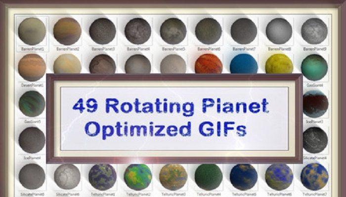 49 Rotating Planet GIFs