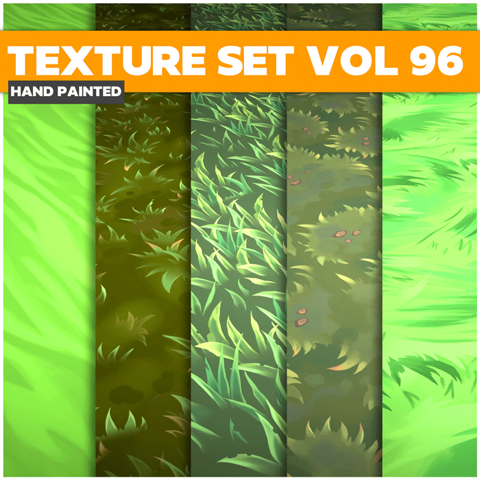Stylized Grass Vol 96 – Hand Painted Textures