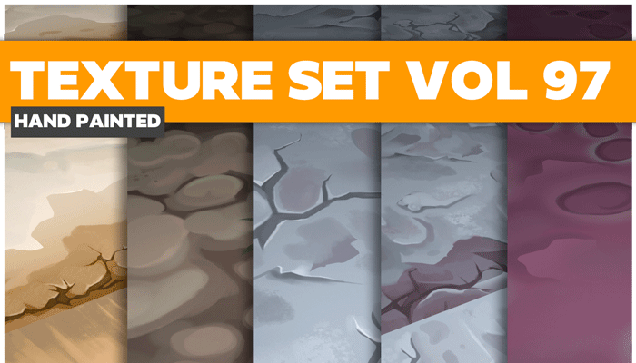 Stylized Ground Vol 97 – Hand Painted Textures