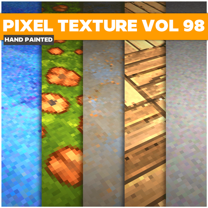 Stylized Pixel Vol 98 – Hand Painted Textures