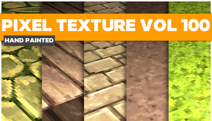 Stylized Pixel Vol 100 – Hand Painted Textures
