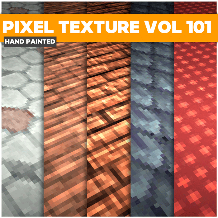 Stylized Pixel Vol 101 – Hand Painted Textures