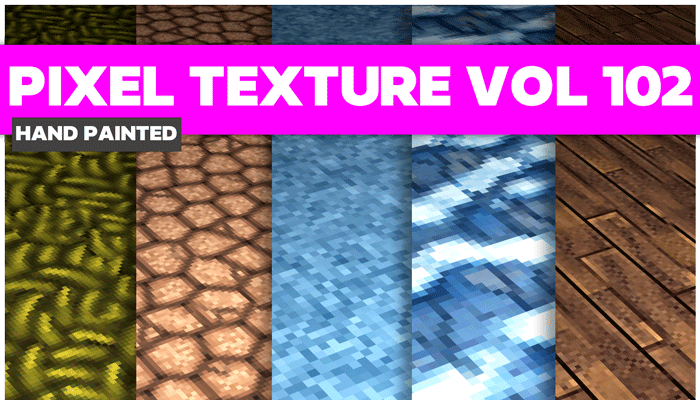 Stylized Pixel Vol 102 – Hand Painted Textures