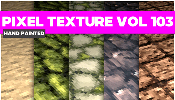 Stylized Pixel Vol 103 – Hand Painted Textures