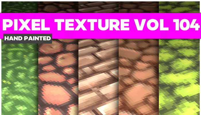 Stylized Pixel Vol 104 – Hand Painted Textures